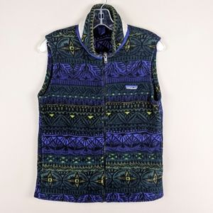 Patagonia | Blue Green Fuzzy Zip Vest-E78